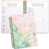 Contacts and Password Notebook Keeper Journal 8.25' X 6' Address Book Internet Password Organizer 1 pcs