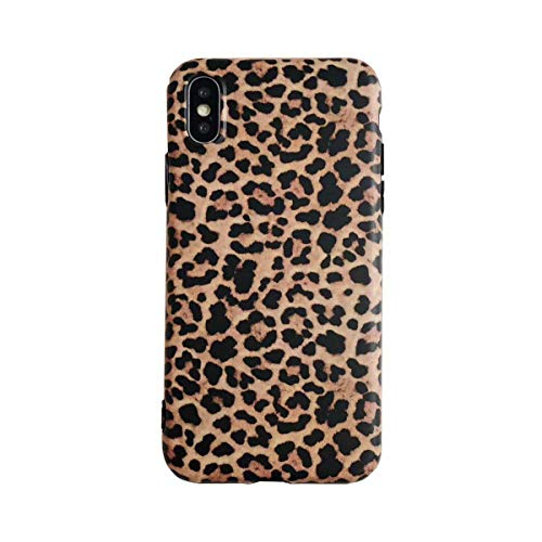 Leopard case for iPhone Xs,Easeu Women's Cheetah Stylish Soft TPU Anti-Shock Super Slim Back Cover Case for iPhone X/iPhone Xs 5.8 inch