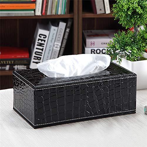 Hoge dichtheid Nederlands Houten Tissue Box Cover Pu Lederen Hotel Auto Napkin Box Houder Thuis Kantoorbenodigdheden