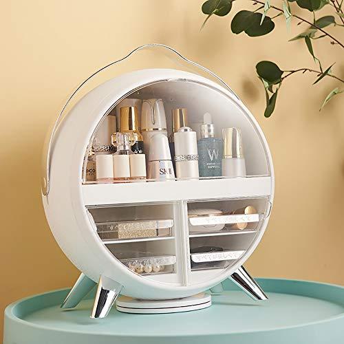 LYzpf Make-up Organisator Display Stand Box Met Spiegel Neatness Cosmetische Organisatoren Opslag Plank Tassen voor Dressoir Slaapkamer Badkamer