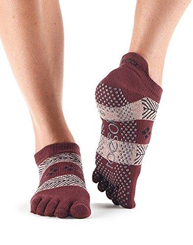 ToeSox Calcetines tobilleros de mujer con dedos cerrados, antideslizantes, para ballet, yoga, pilates, barre, Wonderland