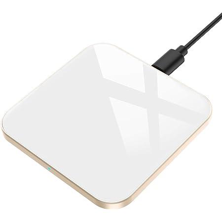 AGPTEK Chargeur sans Fil Rapide 15W, Chargeur à Induction Rapide Qi 15W/10W/7.5W/5W Compatible avec iPhone 12/12 Mini/Pro Max/11/XS/XR/X/8 Plus/Se 2020,Samsung Galaxy,Huawei, Xiaomi,AirPods Pro-Blanc