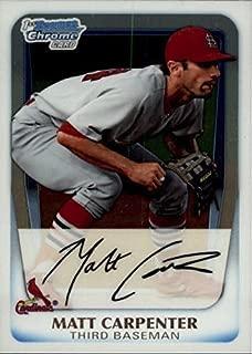 2011 Bowman Chrome Prospects Matt Carpenter St Louis Cardinals Baseball Rookie Card RC #BCP66