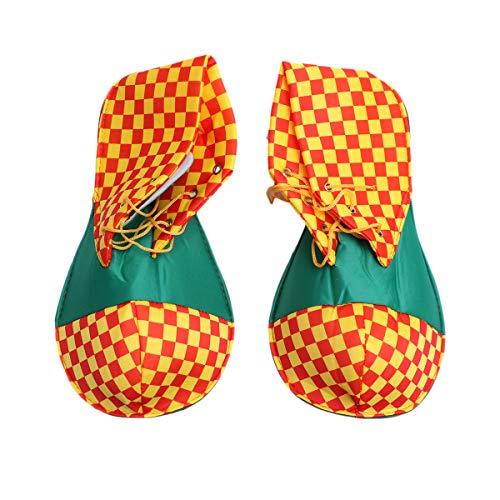 FENICAL Zapatos de payaso Halloween Disfraz de payaso Calzado amarillo para mujer hombre (talla única)