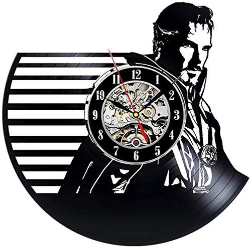 ZAWAGU Vinyl Wanduhr Geschenke Dekoratives Haus aus CD LP 3D Arzt Film seltsame Thema Dekoration hängen Vintage s Dekor 12 Zoll