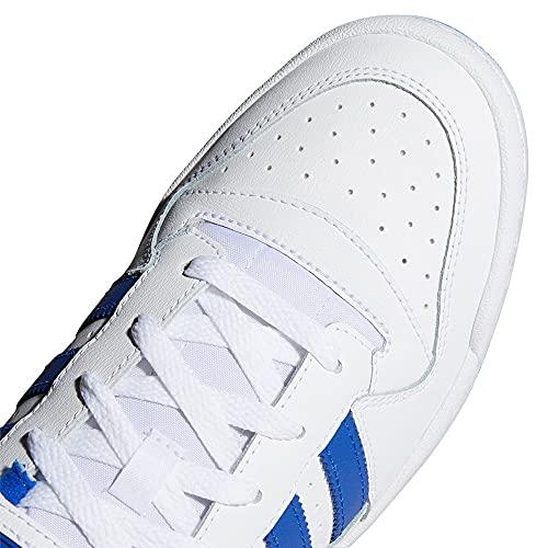 adidas Forum Low, Basket Homme, FTWR White FTWR White Team Royal Blue, 43 1/3 EU