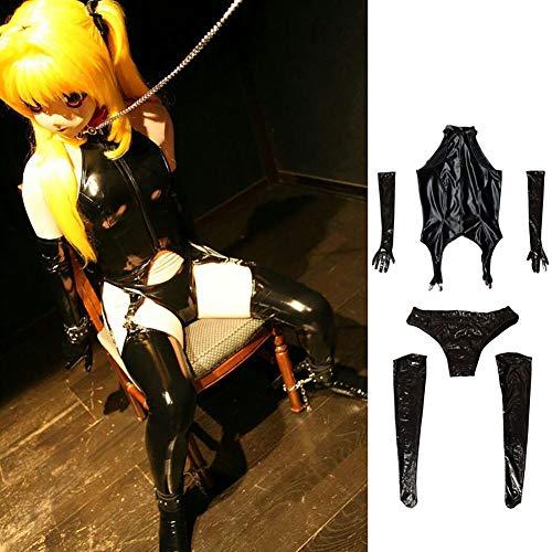 SMWANG Maid Student Cosplay Erotisches Spiel Bündel Reißverschluss Unterwäsche Nass Outfits Aussehen Halloween Kostüme Uniform Nachtclub,XXL