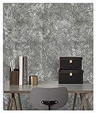 Dwind D9262 Papel tapiz de vinilo de industria papel pintado grisy adhesivo para la decoración del hogar de la cocina 45 cm x 3 m