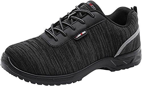 Zapatos de Seguridad Hombres, LM-313 Zapatillas de Trabajo con Punta de Acero...