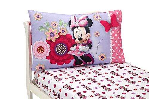 Disney Minnie Mouse Bow Power Parure de lit 2 pièces pour Enfant Rose/Violet