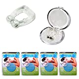 4Pc Stop Snoring Nose Clip Ring Helps Stop Sleep Aid Guard Case Tray Quiet Night