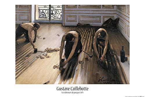 1art1 Gustave Caillebotte - Die Parkettschleifer, 1875 Poster 91 x 61 cm