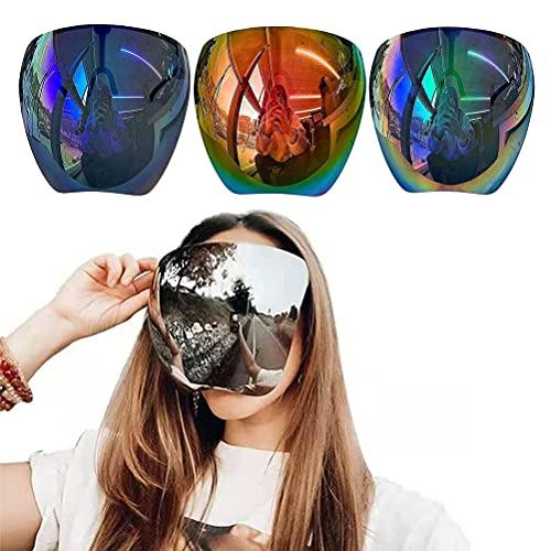 Gafas de sol de espejo grandes polarizadas de cara completa con escudo grande de gran tamaño, gafas de visera con espejo de protección facial/gafas de sol para hombres y mujeres (4Pcs)