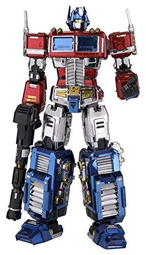XIAOGING Juguetes de los transformadores, Metal Modelo 3D Puzzle Bricolaje Montado Transformers Modelo Optimus Prime Autobot Modelo de Juguete