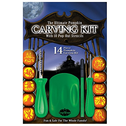 The Ultimate Pumpkin Carving Kit With 10 Pop-Out Stencils