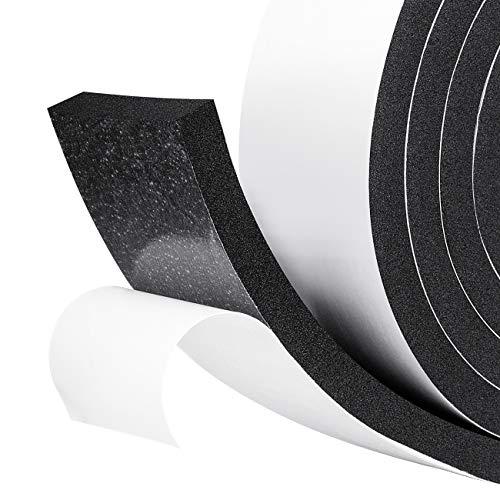 Espuma adhesiva Cinta de sellado de goma Celda cerrada Puerta de Aislamiento de sellado Sellado de banda de intemperie Prueba de sonido 50 mm de ancho x 10 mm de espesor x 2 m de largo