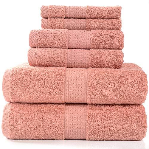 CXBHB Asciugamano di Cotone, Asciugamano Assorbente, Asciugamano Quadrato, Set da 6 Pezzi