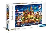 Clementoni- Downtown Puzzle Adulto, Multicolor (36529)