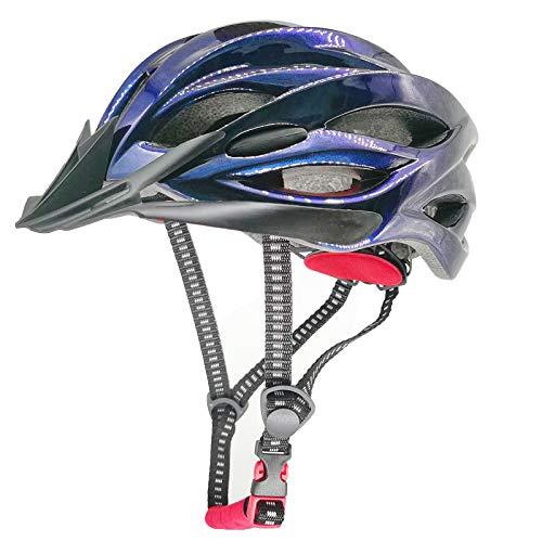 Fahrradhelm Fahrradhelm Mountainbike-Helm Einstellbares Licht Hochwertige kühle Farben Sicherheitsschutz CE-zertifizierter Helm mit Visier für Erwachsene Männer Jungen Mädchen