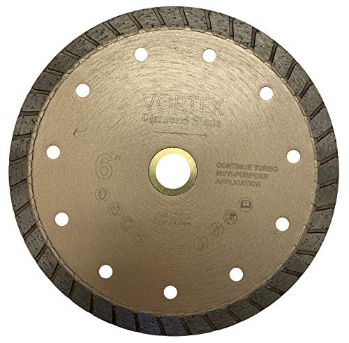 VORTICE VSC 6 inch Dry or Wet Cutting General Purpose Continuous Turbo Rim Power Saw Diamond Blades for Concrete Stone Brick Masonry (6