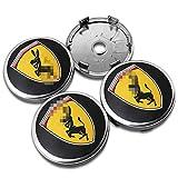 massage 4Pcs 60mm Car Wheel Center Hub Caps Cubierta Central Emblema Insignia Cubierta A Prueba De Polvo, para Ferrari Ford Mustang