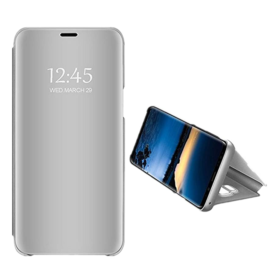 Samsung Galaxy S9 Plus Mirror Case PU Leather Flip Folio Stand PC Hard Cover 360 Protective for Samsung Galaxy S9