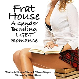 Frat House: A Gender Bending LGBT Romance audiobook cover art