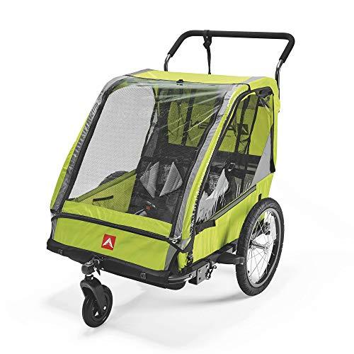 Allen Sports ES2-R, Rimorchio per Bicicletta per 2 Bambini Unisex Adulto, Rosso, 2-Child