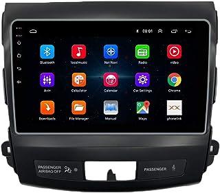 KUNFINE Android 10 Autoradio Autonavigation Steuergerät Stereo Multimedia Player GPS Radio IPS 2.5D Touchscreen Lenkradkontrolle DSP FürMitsubishi Outlander 2007 2012