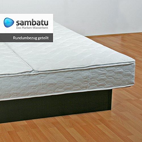 sambatu Rundumbezug Frottee-Stretch für Wasserbetten Bezug Wasserbett (200x220)