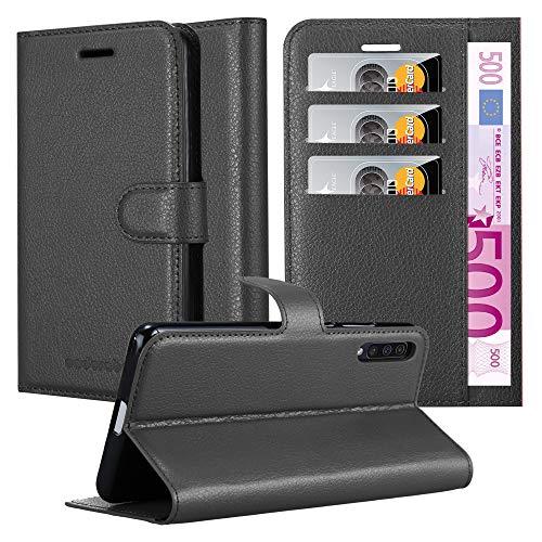 Cadorabo Funda Libro para Samsung Galaxy A50 en Negro Fantasma - Cubierta Proteccíon con Cierre Magnético, Tarjetero y Función de Suporte - Etui Case Cover Carcasa