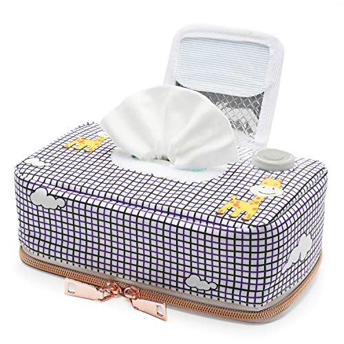 Seposeve Portable Baby Wipe Warmer with 3 Heating Modes, Farewell the Cold Baby Wipes When Changing Diaper, Auto-OFF Protection after 60 Minutes, Wipe Dispenser for Baby, USB Power 5V 2A. Home/Travel.