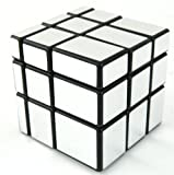 Mirror Blocks Shiny Silver Black Frame
