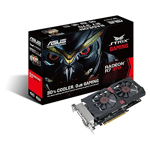 Asus Strix-R7370-DC2OC-4GD5-GAMING AMD Gaming Grafikkarte (PCIe 3.0 x16, 2GB DDR5 Speicher, HDMI, 2x DVI, DisplayPort)