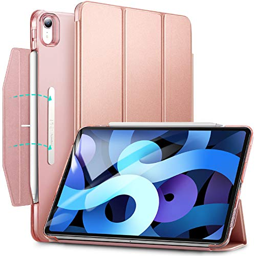ESR Trifold Case for iPad Air 4 2020 10.9 Inch [Trifold Smart Case] [Auto Sleep/Wake Cover] [Stand Case with Clasp] Ascend Series - Rose Gold