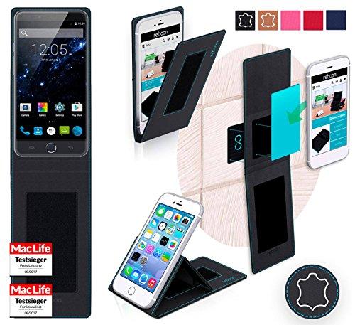 Hülle für Ulefone Be Touch 3 Tasche Cover Case Bumper | Schwarz Leder | Testsieger