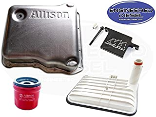 Genuine Allison 1000 Deep Pan Kit w Merchant Filter Lock - Allison Deep Pan (29536522), Internal Deep Filter (29542824), AND External Spin On Filter (29539579)