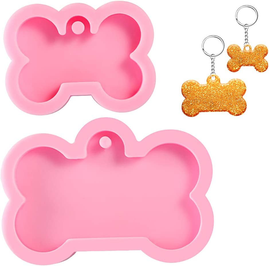 butefo Silicone Now free shipping Mold Resin Japan's largest assortment for Bone Tags,Dog Dog Key Shaped