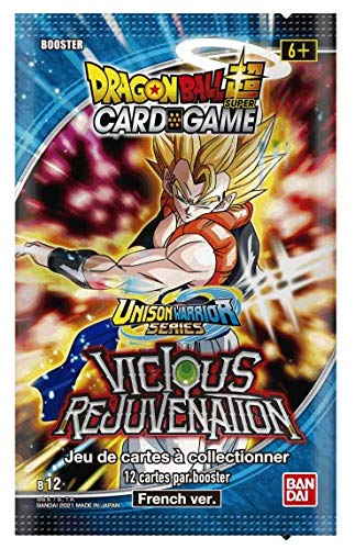 Dragon Ball Super Card Game - Booster de 12 Cartes Série 12 : Vicious Rejuvenation - Version Francaise
