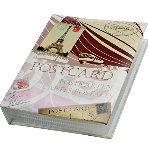 Postkarten-Album mit 50 festeingebundenen Hüllen für 200 Ansichtskarten, Postkartenalbum, Postcards ,Cartes Postales