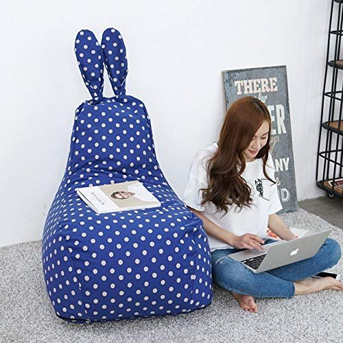 HFA Brisk Creativity Cute Rabbit Modeling Bean Bag de tamaño pequeño Silla de dormitorio perezosa