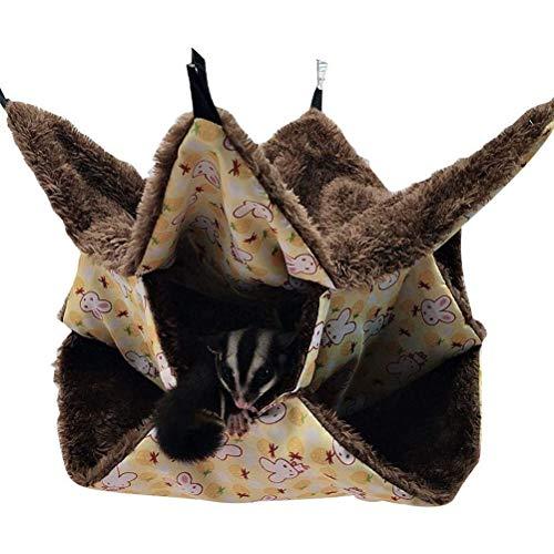 Macabolo Hamster-Hängematte, 3-lagig, Labyrinth-Design, Schlafsack, warmes Fleece, Hängenest für Chinchillas, Frettchen, Eichhörnchen
