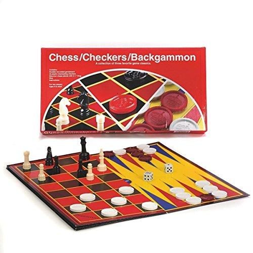 Pressman PRE111312 Chess/Checkers/Backgammon