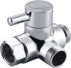 Shower Arm Diverter Valve 3 Way Stainless Steel for Handheld Shower Head and Fixed Spray Head, G1/2 Bathroom Universal Sho...