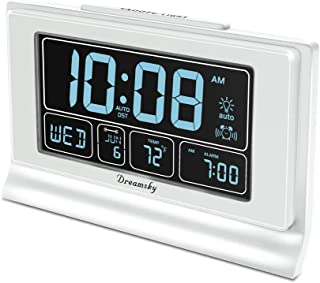 DreamSky Auto Set Digital Alarm Clock with USB Charging Port, 6.6 Inches Large Screen..