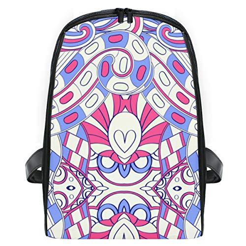 ELIENONO Mochilas Escolares Juveniles,Patrón de tracería Colorido diseño de alfombras Mehendi,Mochila Hombre...