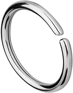 18G -20G Surgical Steel Seamless Nose Ring or Cartilage Hoop with Comfort Round Ends (Sold Individually)