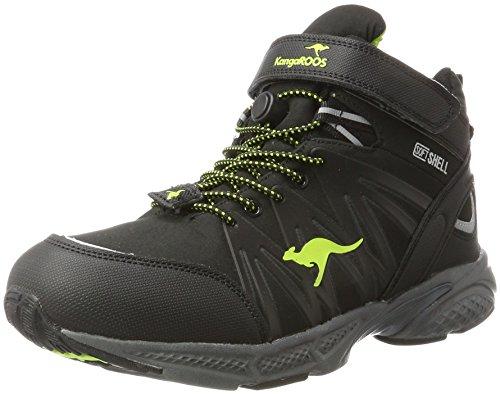 KangaROOS Unisex-Erwachsene Tramp HI Trekking- & Wanderschuhe, Schwarz (Jet Black/Lime), 42 EU