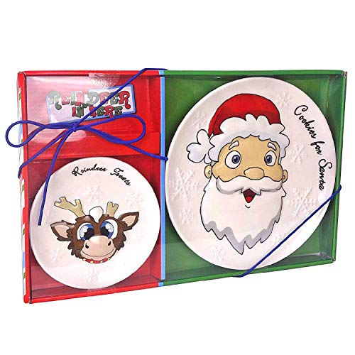 Reindeer In Here, Cookie Plate for Santa and Reindeer Treats Set, The Most Awarded Christmas Tradition Brand