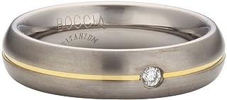 Boccia 钛中性款戒指哑光白色明亮式切割钻石(0.03 CT - 0130 06